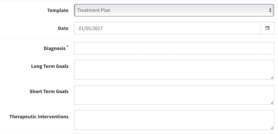 Treatment Plan with Mentegram Notes Mentegram – Treatment Plan Template